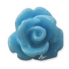 10mm Jean Blue Small Resin Rose Buds